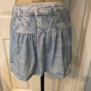 Lucky in Love Light denim pocket tennis skirt